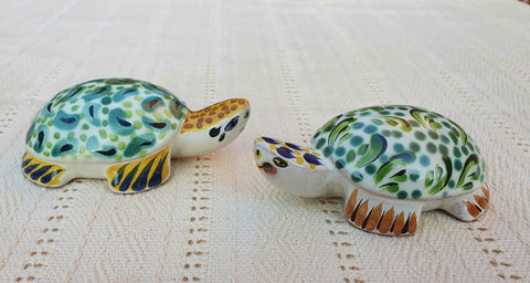 mexican pottery turtle salt and pepper decorative pottery table decor