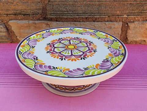 mexican ceramics cake base hand thrown folk art majolica talavera