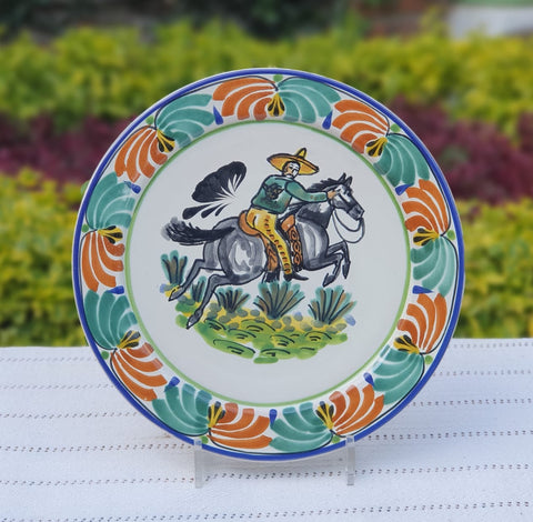 mexican-plates-ceramic-pottery-hand-made-mexico-tableware-cowboy-motive.jpg
