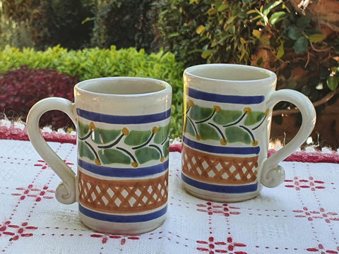 mexican tequila mug table decor pottery ceramic hand made for garden