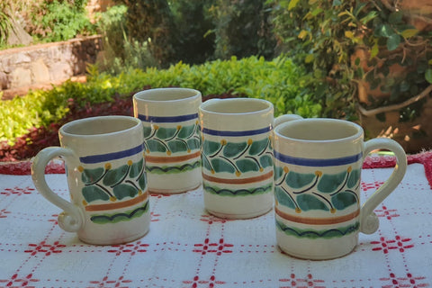 mexican tequila mug table decor pottery ceramic hand made for garden talavera majolica