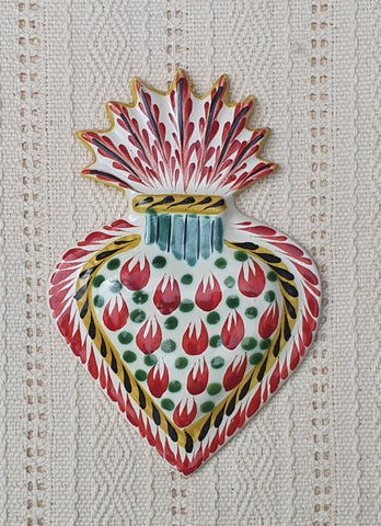mexican-gifts-decorative-ornament-sacred-heart-ideal-majolica-ceramic-mexico