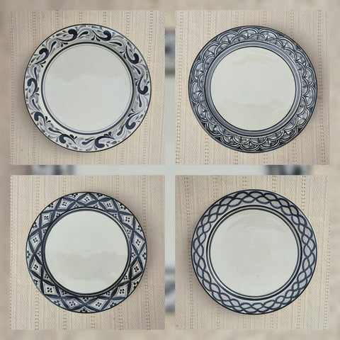 mexican-dinner-plates-charger-dinner-plate-special-tableware-black-majolica-hand-made-mexico-art