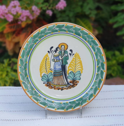 mexican-plates-pottery-wedding-gift-tableware-majolica-hand-made-mexico