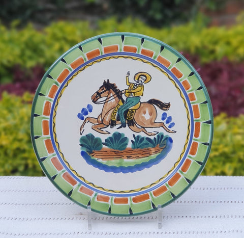 mexican-plates-ceramic-pottery-hand-made-mexico-tableware-cowboy-pattern