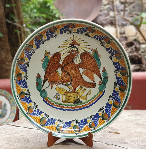 decorative-wall-platter-mexican-eagle-flag-culture-hand-made-mexico
