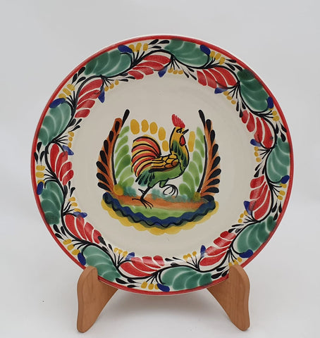 handcrafts-mexico-christmas-rooster-dinner-salad-plate-dinning-tableware-amazon-gifts