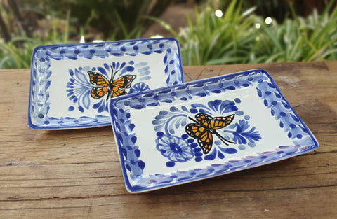 mexican-ceramic-handcrafts-butterfly-blue-talavera-handpainted