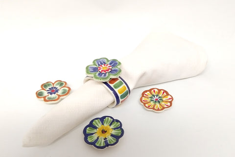 mexican decor napking ring folk art hand painted gorky workshop