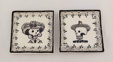 mexican plates folk art catrina motive amazon mexico