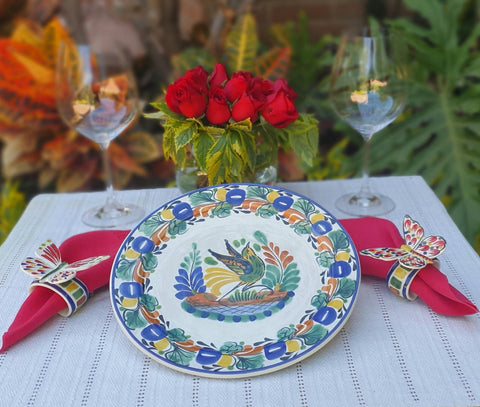 Bird Plates-ceramic-plates-handcrafts-hand painted-Gorky Pottery-Majolica-Mexican Pottery-Gorky Gonzalez-Eat Different
