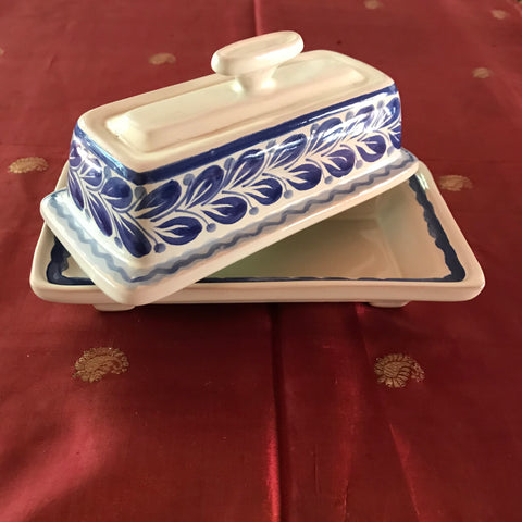 Butter Dish- Butter Container- Mantequillero-Handmade- hand-painted-mexican-pottery-GorkyGonzalez-Gorky Pottery-Kitchen-Cooking-Gorky Gonzalez-Cocina-Comida