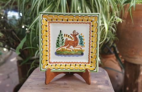 Deer-Plates-Ceramics-Handmade-Hand Painted-Mexican Pottery-Gorky Pottery-Tradicional-Decoration-Kitchen-Table Top- Table Settings- Tebale Set UP- Eat Different
