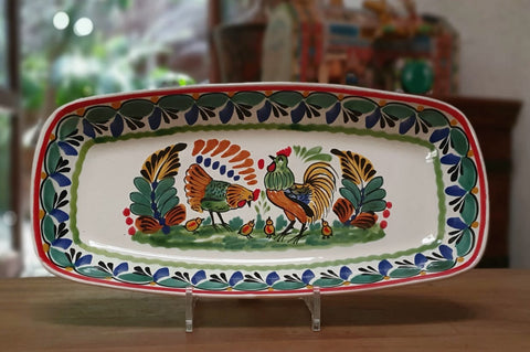 mexican ceramic pottery rooster design
