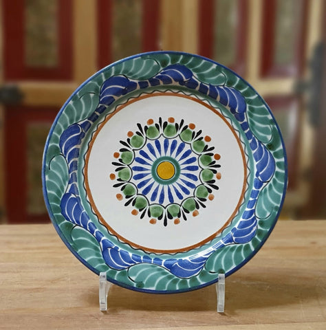 Flower Plates-ceramic-plates-handcrafts-hand painted-Gorky Pottery-Majolica