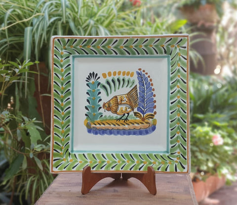Hens-Plates-Ceramics-Handmade-Hand Painted-Mexican Pottery-Gorky Pottery-Tradicional-Decoration-Kitchen-Table Top- Table Settings- Tebale Set UP- Eat Different