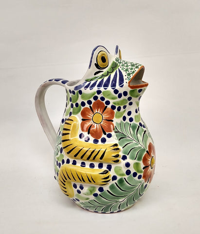 mexican pitchers water folk art hand painted in mexico by gorky gonzalez workshop