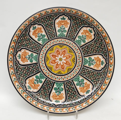 mexican decorations wall platter folk art hand made in workshop gorky gonzalez guanajuato mexico