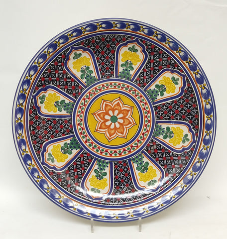 mexican wall platters hand wheel hand craft mexican majolica gorky workshop