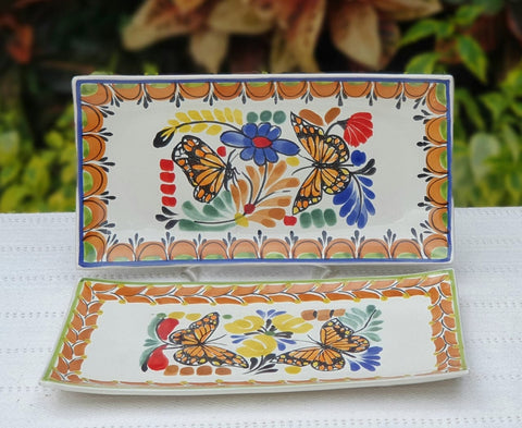 ceramic-plates-trays-hand-made-mexico-butterfly