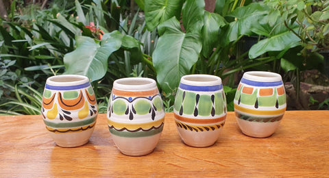 Mezcal Shoot-Mezcal-drink-oaxaca-drink different-mexico-mexican culture-mexican pottery-hand made-hand painted-gorky pottery