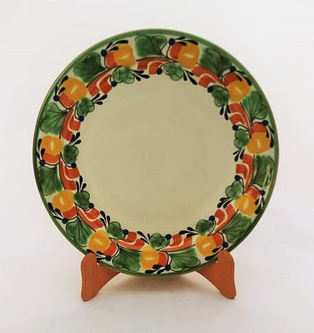 mexican plates base dinner plate folk art hand made mexico
