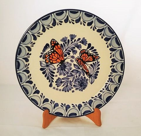 mexican plates hand made mexico butterfly dinner plate