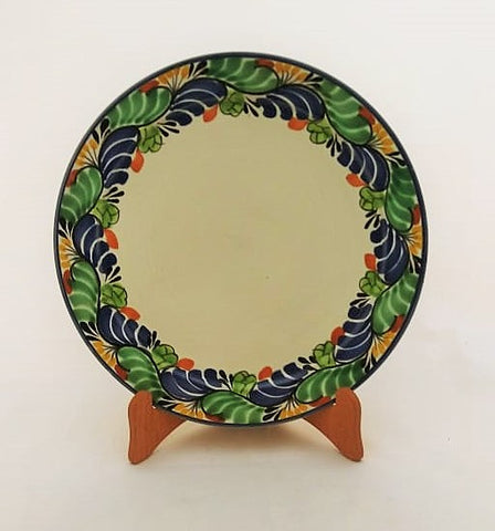mexican plate base dinner plate traditional border hand made mexico
