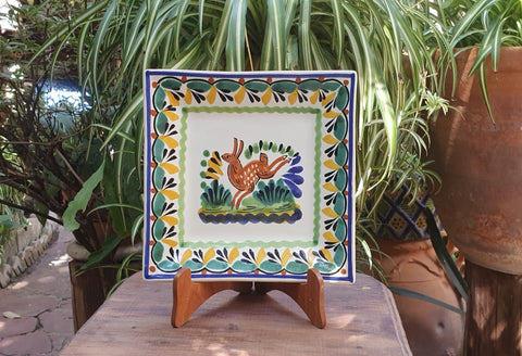 Rabbit-Plates-Ceramics-Handmade-Hand Painted-Mexican Pottery-Gorky Pottery-Tradicional-Decoration-Kitchen-Table Top- Table Settings- Tebale Set UP- Eat Different