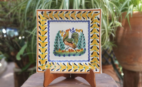 Rooster-Plates-Ceramics-Handmade-Hand Painted-Mexican Pottery-Gorky Pottery-Tradicional-Decoration-Kitchen-Table Top- Table Settings- Tebale Set UP- Eat Different
