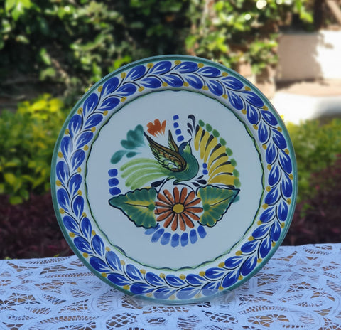 mexican plates salad plate hand made bird motive table decor