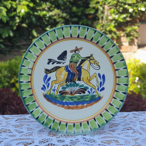 mexican plates charger dinner plate folk art table decor cowboy