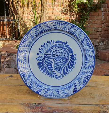 mexican plates charger dinner plate table decor mexico folk art