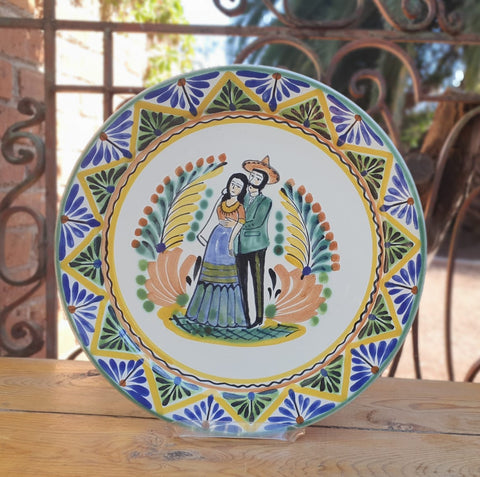 mexican plate charger dinner plate decorative table decor charro motive