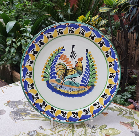 mexican plates dinner plate folk art hand painted rooster dinnerware