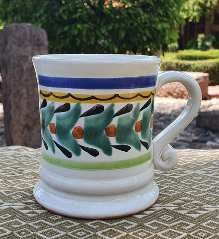 mexican mugs pottery hand painted guanajuato mexico workshop majolica