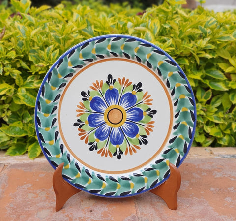 mexican plates charger dinner plate dinnerware flower motive