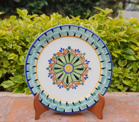mexican plates charger dinner plates hand made folk art