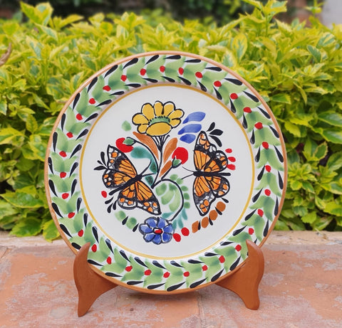 mexican plates charger dinner plate folk art dinnerware table decor butterfly