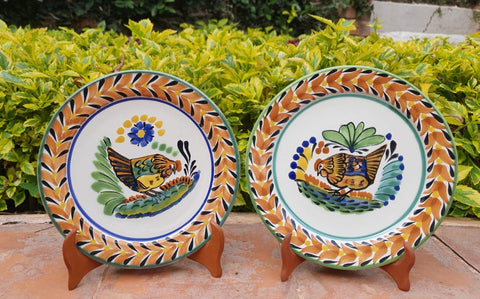 mexican plates charger dinner plate dinnerware folk art hand painted