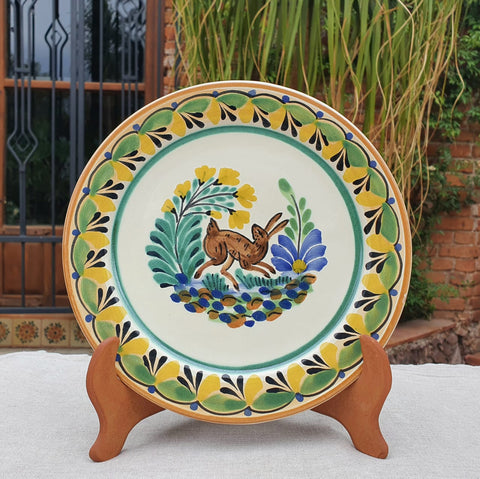 mexican plates charger dinner plate folk art hand painted