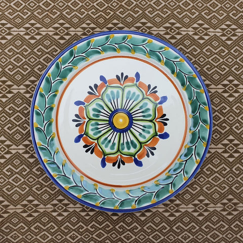 mexican plates salad plate ceramic flower pattern