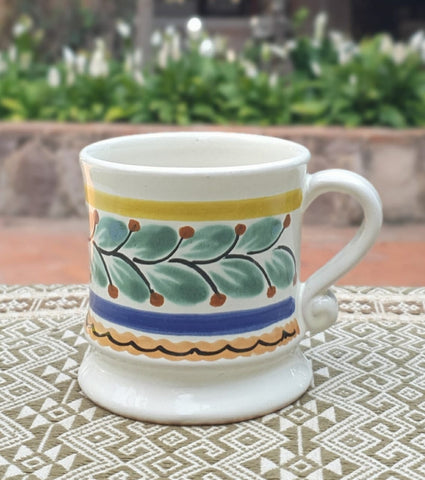 Traditional Coffee Mug-ceramic-coffee-mug-handcrafts-table setting-gift-amazon-ebay-talavera-majolica-handmade