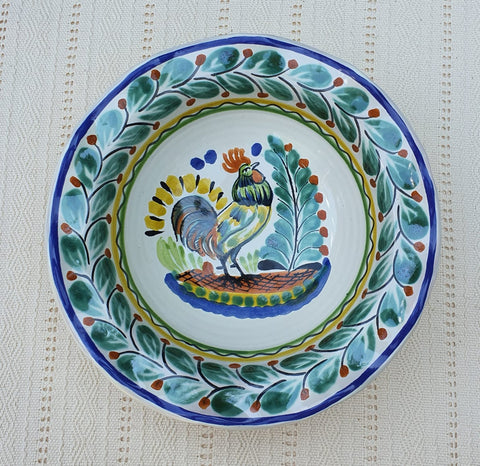 mexican-plates-rooster-pasta-handcrafts-ceramic