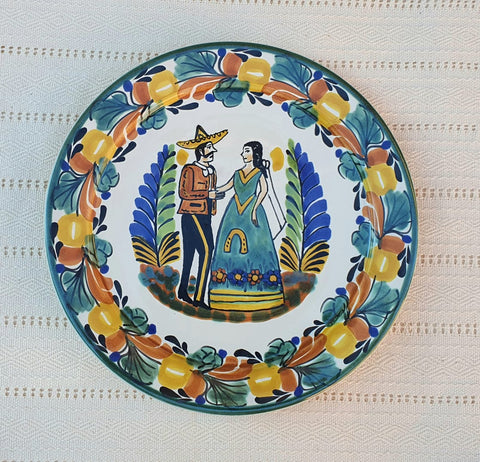 mexican plates decorative ceramic for special day with wedding motive folk art mexico