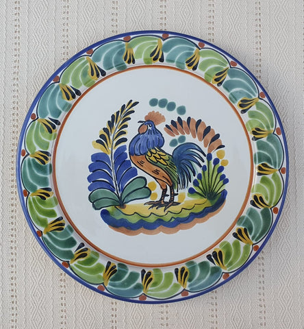 mexican plates charger dinner plate rooster pattern guanajuato mexico majolica