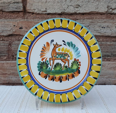 mexican plates dinner decor majolica ceramic hand made mexico