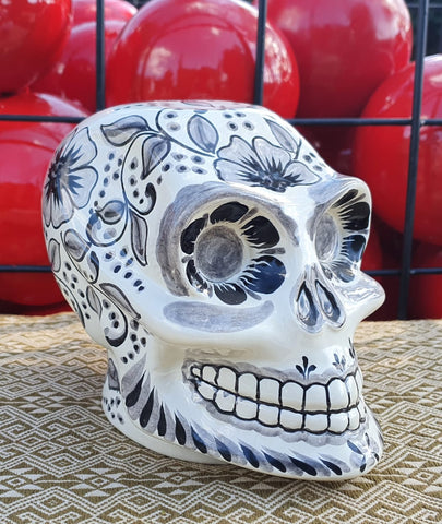 mexican skull figure Halloween Motivces hand painted WorShop Guanajuato mexico