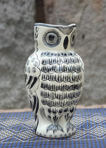 mexican pitchers owl jar water table decor ideas majolica black and white mexico
