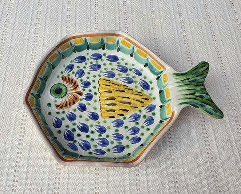 mexican plates snack dish fish decorative hand painted ceramic mexico